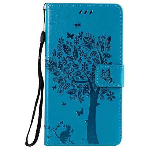 Handyhülle für Samsung Galaxy A71 Hülle Case PU Leder Tasche Baum Blume Flipcase Schutzhülle Silikon Handytasche Skin Ständer Klapphülle Schale Bumper Magnetverschluss Fächer Brieftasche