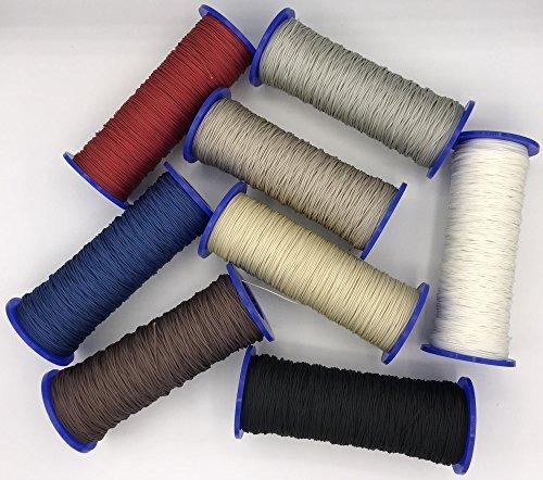 ps FASTFIX Schnur für Plissees 0,8 mm - 8 Farben - Plisseeschnur - Spannschnur für Plissee weiß, 10 Meter