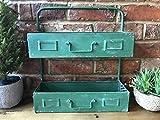 Retro-Wandregal, Industrie-Stil, Wandregal Wand-Aufbewahrung Regal grün