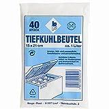 Tiefkuehlbeutel (Fuer Kuehlschrank und Gefriertruhe * L x B: 15 x 21 cm, 1 Liter, 40 Stueck)