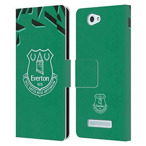 Head Case Designs Offizielle Everton Football Club Away Torwart 2019/20 KIT Leder Brieftaschen Huelle kompatibel mit Wileyfox Spark/Plus