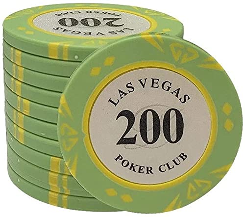 100 pz/set Clay Poker Chips Texas Poker Chip Set Las Vegas Casino Poker Coin Metal Monet Monet Dollar Chips Poker Club Accessori