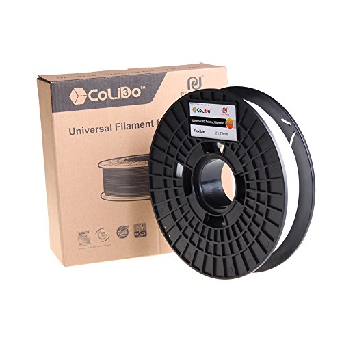 500 g zware, flexibele, 1,75 m lange, witte draad voor 3D-printer op een spoel van Colido