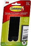 Command Tiras para colgar cuadros, resistentes, grandes, negras, capacidad para 17 libras, 4 pares, paquete de 3