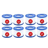 LALAGOU Vi Filtro de Repuesto para Cartuchos de Filtro para Bestway Piscina,para Lay-z-SPA para Miami,para Vegas,para Mónaco,para tamaño 6-58323 (8 Unidades)