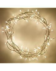 Lights4Fun 100 Inomhus LED Ljusslingor, Varm Vit, 8 m