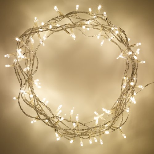 Lights4fun Indoor Fairy Lights with 100 Warm White LEDs on 8m of Clear Cable