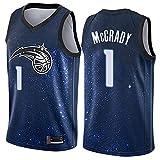 LYY Jersey Men's, Orlando Magic # 1 Tracy McGrady - NBA Basketball Uniformes Classic Sin Sport Sport Camisetas Y Camisetas Cómodas,Azul,L(175~180CM)