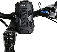 Portable Bluetooth 5.0 Speaker by CLEARON – Wireless Waterproof Speaker with Bike Mount & Remote – Premium Sound Quality & Loud 8W Mini Speaker – 15 Hours of Playtime & 100 ft Range (Black)