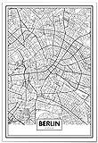 Panorama Póster Mapa de Berlín 21 x 30 cm - Impreso en Papel 250gr - Póster Pared - Cuadros Decoración Salón - Cuadros para Dormitorio - Póster Decorativos - Cuadros Modernos