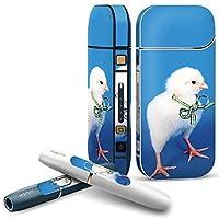 IQOS 2.4 plus 専用スキンシール COMPLETE アイコス 全面セット サイド ボタン デコ アニマル 鳥 動物 写真 002683
