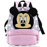 Mochila infantil de Mickey de YUESEN para niños de 2 a 7 años en el jardín de infancia, mochila para niñas