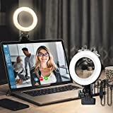Youshuo LED Desk Lamp for Video Conference Lighting, Clip on Streaming Light for Computer Laptop Webcam, Zoom Meetings, Remote Working, Distance Learning, Live Streaming etc