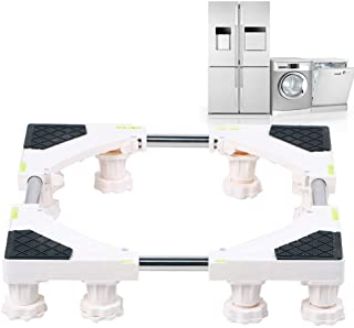 Rullbas, justerbart kylskåp med inbyggd nivå underlättar torktumlare och kylskåp