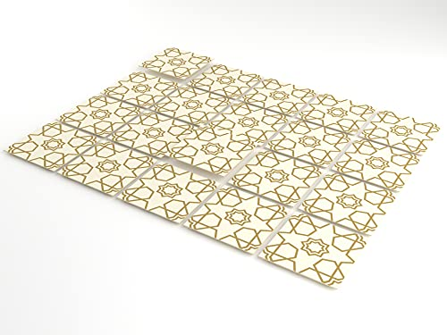 Tink - Pegatinas autoadhesivas para azulejos de 0,5 mm de grosor, 20 unidades, láminas de plástico para cocina y baño, para suelos, escaleras y superficies de madera (Selcuk, 10 x 10 cm)