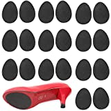 TIHOOD 12 Pairs Self Adhesive Anti Slip Grips Shoes Sticker High-Heeled Sole Pads Protector No Slip Cushion Heel Replacement Pad Prevention Tape Black