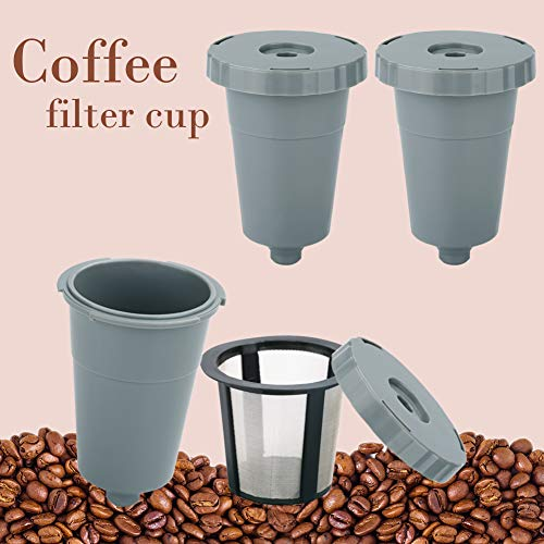 Reusable Coffee Filters,Reusable K Cups for Keurig 1.0 Brewers Universal Fit For B30 B40 B50 B60 B70 Series,Refillable single serve coffee maker k cup,Eco Friendly Stainless Steel Mesh Filter,3-Pack