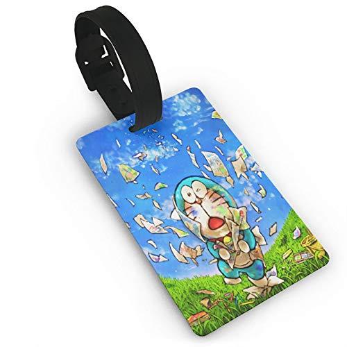 Gepäckanhänger Dream Do-Ra-Emon, Anime-ID-Tags, Karte, Reiseanhänger für Koffer, Kofferraum, Privatsphäre, modische Abdeckung, Namensetiketten, 9,4 x 5,6 cm