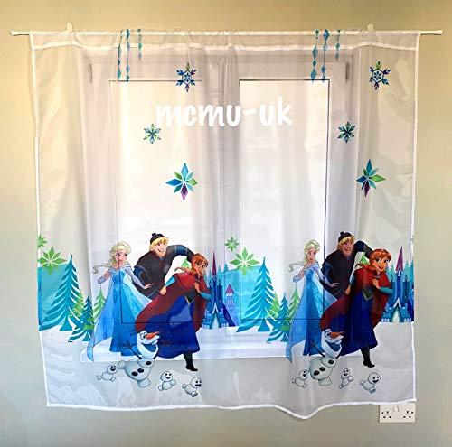 Polontex Disney - Tende per cameretta dei bambini, motivo: Frozen DA04-75 cm di larghezza x 150 cm di lunghezza