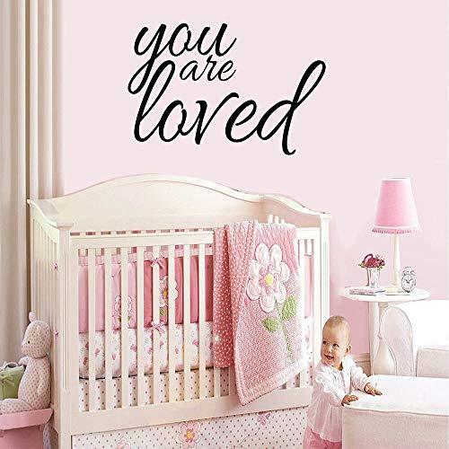 Yaonuli Mooie Phrase, die u houdt van waterdichte muurstickers kinderen versieren kamer decoratie muurkunst stickers slaapkamer