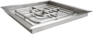 Onlyfire Square Stainless Steel Drop-in Fire Pit Burner Ring and Pan Assembly, 30-Inch