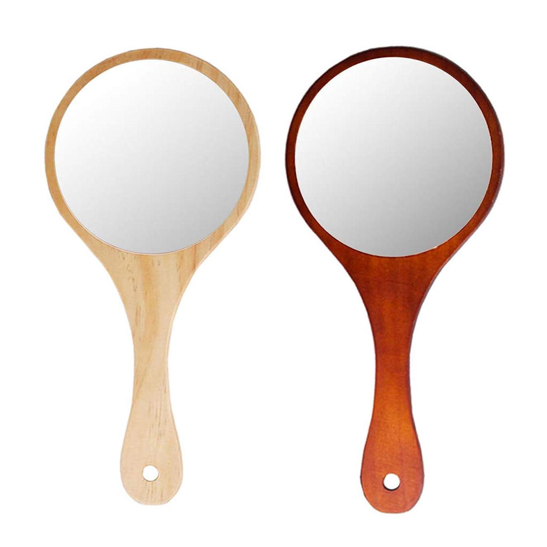 ジョリー難しい荷物Perfeclan 化粧ミラー 化粧鏡 メイクミラー 手持ち メイク 化粧 スキンケア 携帯便利 フェイスケアツール 2個
