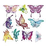 Manyo DIY Bunter Schmetterling Stickerei Applikation Für Decoreting und Patching Jacket, T-Shirt,...