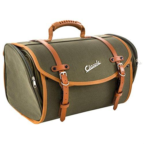 Tas/koffer SIP Classic, groot, voor bagagedrager, 480x300x270 mm, ca. 35 liter, canvas, olijf
