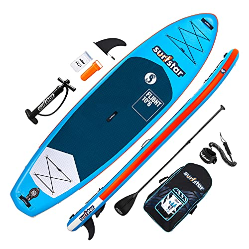 """surfstar Inflatable Paddle Board, Stand Up Paddle Boards for Adults, 10'6''x33''x6""""..."""