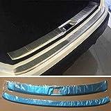 ZQXFZ para Nissan Qashqai J11 2016-2019 Protector De Parachoques Trasero, Accesorios Decorativos De Tira De ProteccióN Antideslizante Antirrayas para Maletero De Coche