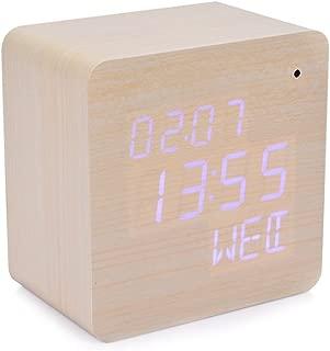 WiFi Spy Camera Wooden Led Clock Hidden Video Security Camera Wireless Remote View Live Nanny Cam