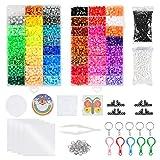 WOWOSS 10000pcs Cuentas y Abalorios 5 mm 48 Colores para Actividades Creativas y...