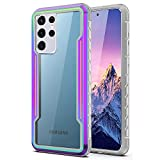 "TIANNIUKE for Samsung S21 Ultra Case, New Metal Series [SGS Drop Tested] Strong Shockproof Multiple Protection Anti-Impact Anti-Fall Phone Case for Samsung Galaxy S21 Ultra 6.8"" (Multicolor)"