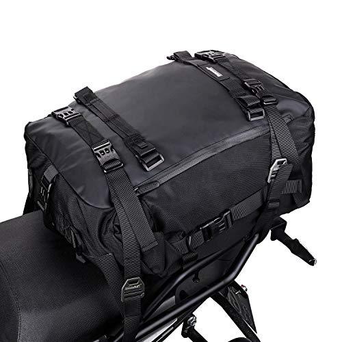 Rhinowalk Multifunktional Motorradtasche Motorradgepäck 10/20/30L Motorrad Pannier Satteltaschen Gepäckträgertaschen Hecktasche Hinterradtasche, Schwarz-30L
