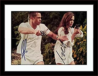 Framed Brad Pitt Angelina Jolie Photo Autograph with Certificate of Authenticity