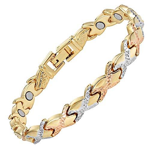 Kdyi Party Ladies Jewelry Pulsera magnética para Mujer Imán Femenino Cadena de eslabones de Color Dorado Pulseras con dijes Pulsera