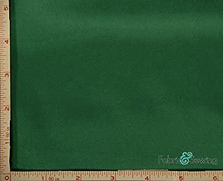 Emerald Green Shiny & Dull Stretch Charmeuse Satin Fabric 2 Way Stretch Polyester Spandex 5 Oz 57-58