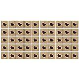 Cerlingwee Caja de Papel Kraft Fuerte, Caja de Dulces portátil de 50 Piezas, Caja de Embalaje, para Manualidades DIY, Colgantes de Chocolate, joyería