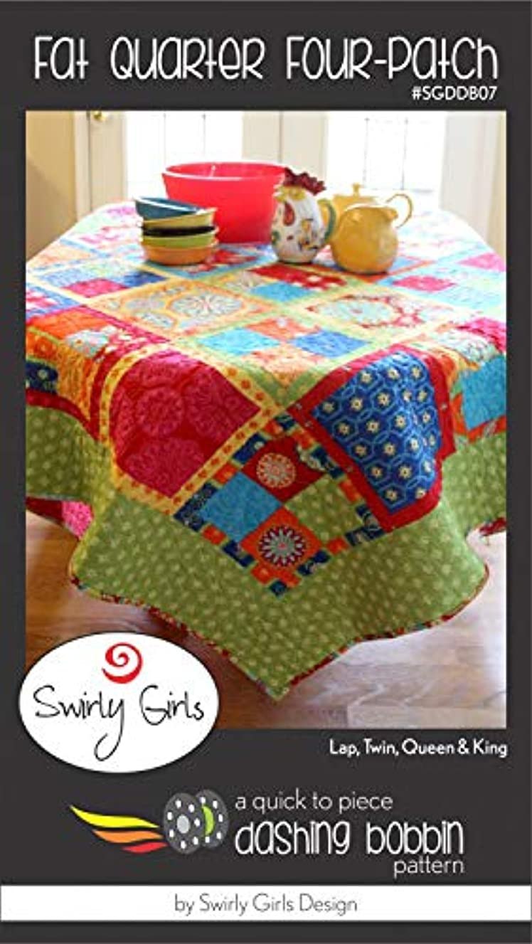 Four-Patch Fat Quarter Multiple Sizes - by Swirly Girls Design
