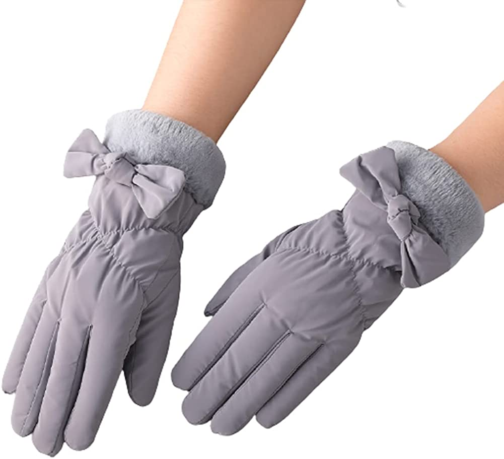 Winter Leather Gloves for Women, Touchscreen Texting Fleece Lined Warm Gloves for Outdoor Sports