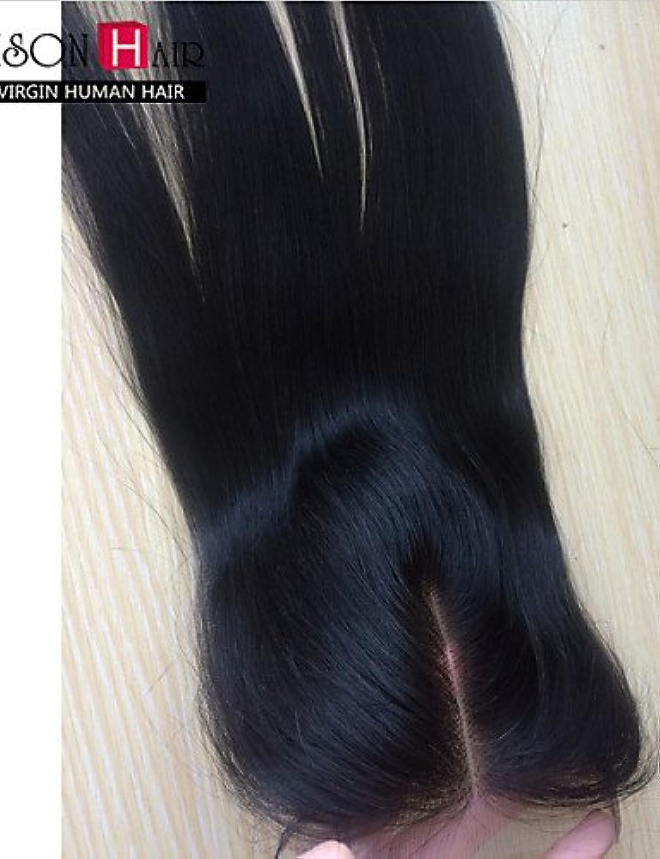 JFF  1 pc   lot 12  -20  Schweizer Spitze Verschluss oben indisches Haar 3,5  x4  Gre Spitzeschliessen