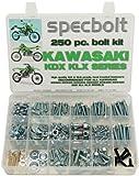 250pc Specbolt tornillos para Kawasaki KDX dos tiempos para mantenimiento y restauración de Dirtbike Crossbike OEM Spec cierre kdx80kdx125kdx175KDX200kdx220KDX250& kdx450