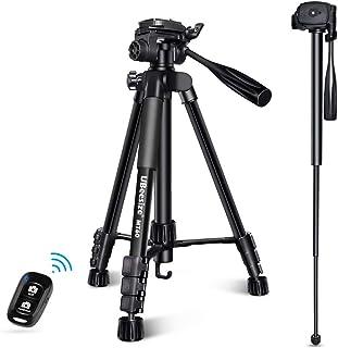 UBeesize 60-inch Camera Tripod, MT60 Aluminum Monopod Tripod Combo, Lightweight Professional Travel Video Camera Stand wit...