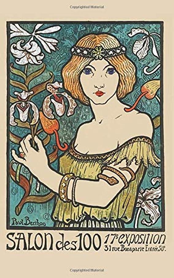 くるくるグリット体操選手Salon des Cent: 5x8 Journal Notebook (Art Nouveau Journal)
