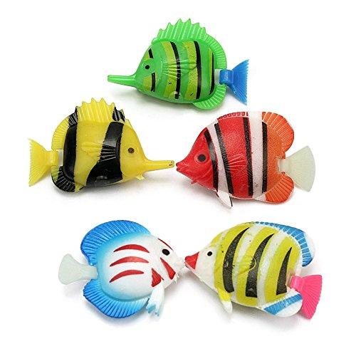 Künstliche tropische Fische für Aquarium, Aquarium, Teich, 5 Stück