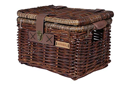 Basil 13044 Fahrradkorb Denton M, Braun, 35 x 26 x 26cm