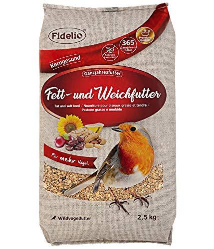 Fidelio Wildvogelfutter, Fett- und Weichfutter 2.5 kg