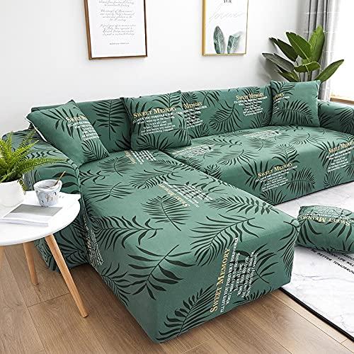 WXQY Funda de sofá elástica Impresa Moderna Funda de sofá en Forma de L elástica con Todo Incluido Funda de sillón Protector de sofá Funda de sofá A8 3 plazas