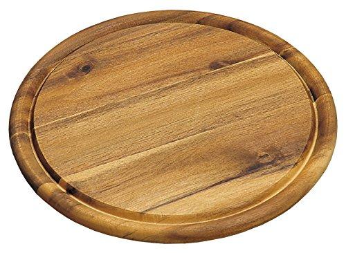 Kesper Versperbrett mit Saftrille, Holz, braun, 25 x 25 x 1.5 cm