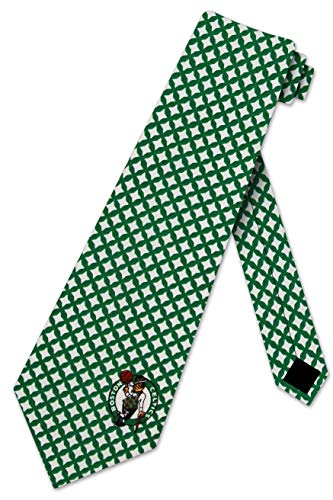 Boston Celtics Ties Mens Diamante Necktie by Eagles Wings